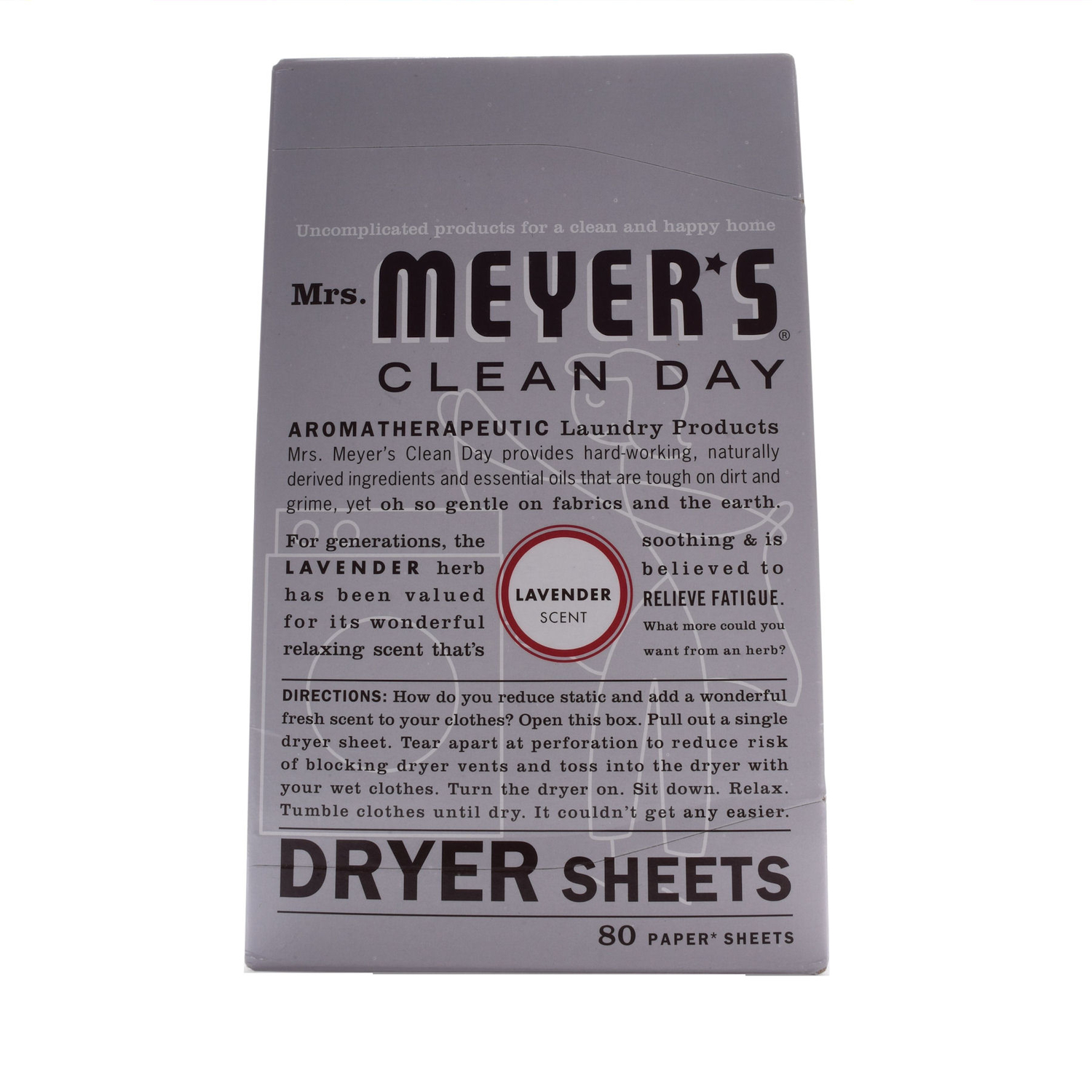 Mrs. Meyer's  Clean Day  Lavender Scent Fabric Softener  Sheets  80 oz.