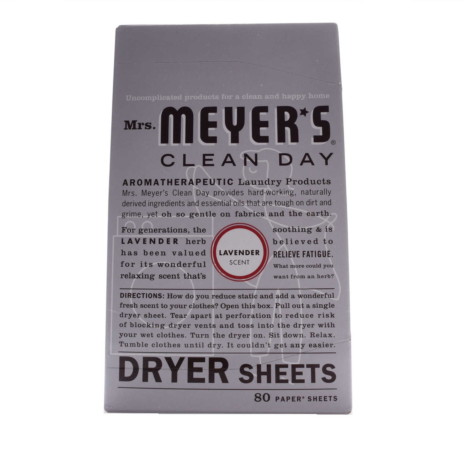 Mrs. Meyer's  Clean Day  Lavender Scent Fabric Softener  Sheets  80 oz. 80 pk