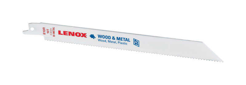 Lenox  8 in. L x 3/4 in. W Bi-Metal  Reciprocating Saw Blade  10 TPI 1 pk