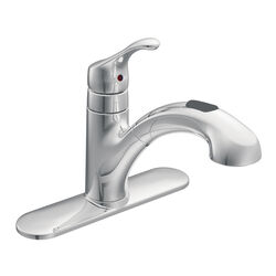 Moen Renzo One Handle Chrome Pull Out Kitchen Faucet
