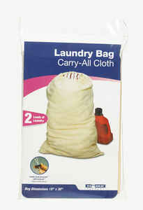 Homz  Ivory  Cotton-Canvas Fabric  Laundry Bag