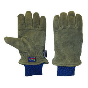 Wells Lamont  XL  Suede Cow Leather  Winter  Brown  Gloves