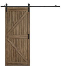 Renin  84 in. H x 36 in. W K-Design Barn Door