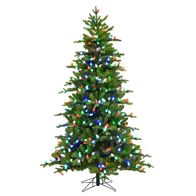Holiday Bright Lights  Multicolored  Prelit 7 ft. Griswold Fir  Artificial Tree  400 lights 1249 tip