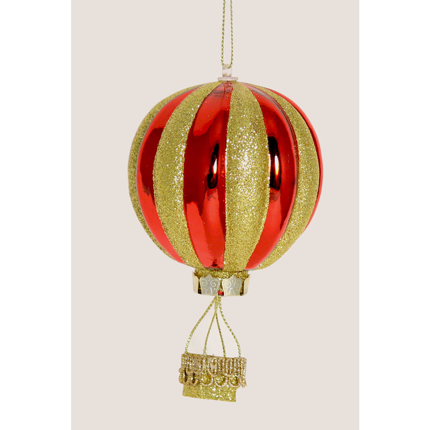 Children's Miracle Network  Ornament  Glass  1 pk Red/Gold