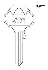 Ace  CP10  Padlock  Key Blank  Single sided