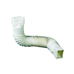 Amerimax  Flex-A-Spout  4.5 in. H x 4.5 in. W x 25.5 in. L White  Vinyl  Downspout Extension