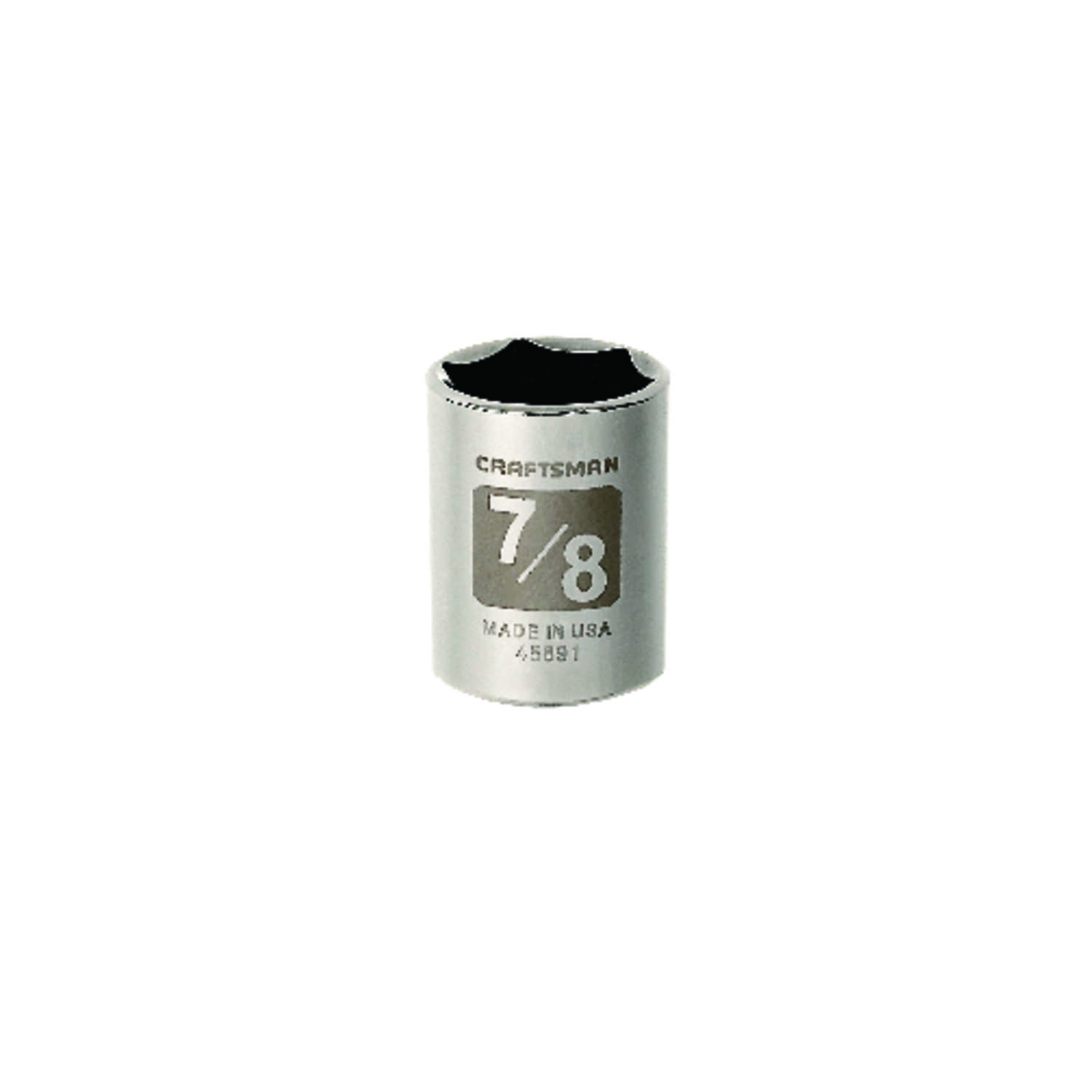 Craftsman  7/8 in.  x 1/2 in. drive  SAE  6 Point Standard  Socket  1 pc.