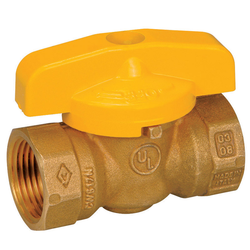 Mueller  Gas Ball Valve  1/2 in. FPT   x 1/2 in. Dia. FPT  Brass  One Piece
