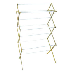 Madison Mill 52.5 in. H x 29.5 in. W x 18.25 in. D Wood Accordian Collapsible Clothes Drying Rack