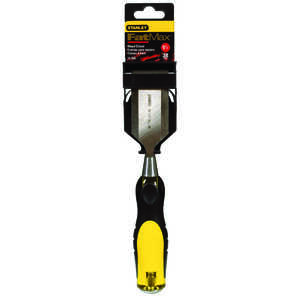 Stanley  FatMax Thru-Tang  9 in. L x 1-1/2  W Tempered Carbon Chrome Steel  Wood Chisel  Yellow  1 p