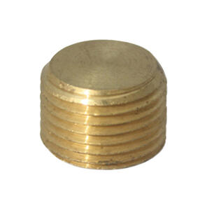 JMF  1/4 in. MPT   Yellow Brass  Counter Sunk Plug