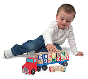Melissa & Doug  Alphabet Truck  Wood