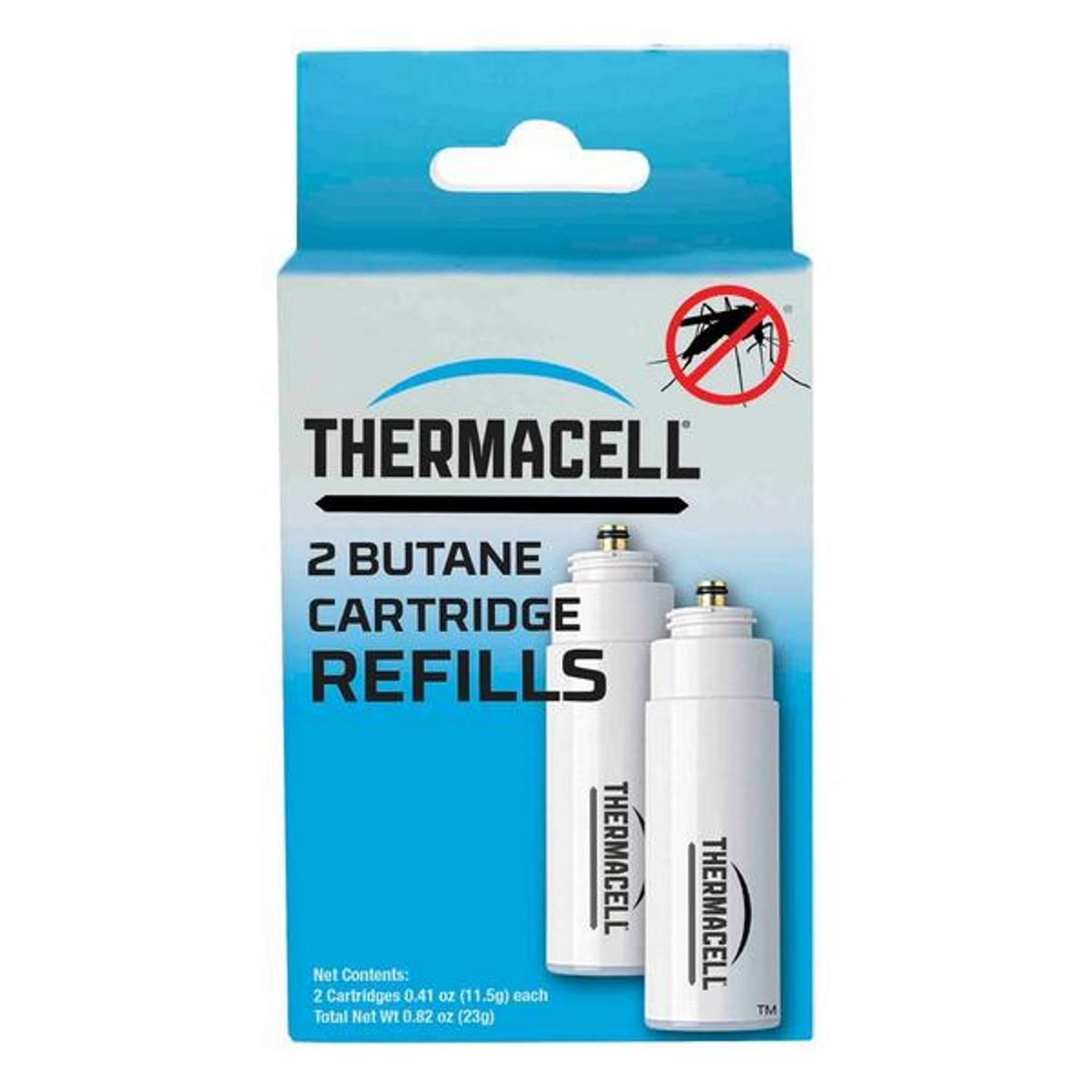 Thermacell Insect Repellent Refill Cartridge Liquid For Mosquitoes 0.2 oz. The Thermacell Mosquito Repellent Replacement Butane Cartridges for Thermacell helps you keep your home or patio free from mosquitoes, black flies and no-see-ums. These butane cartridges provide relief for up to 12 hours each.