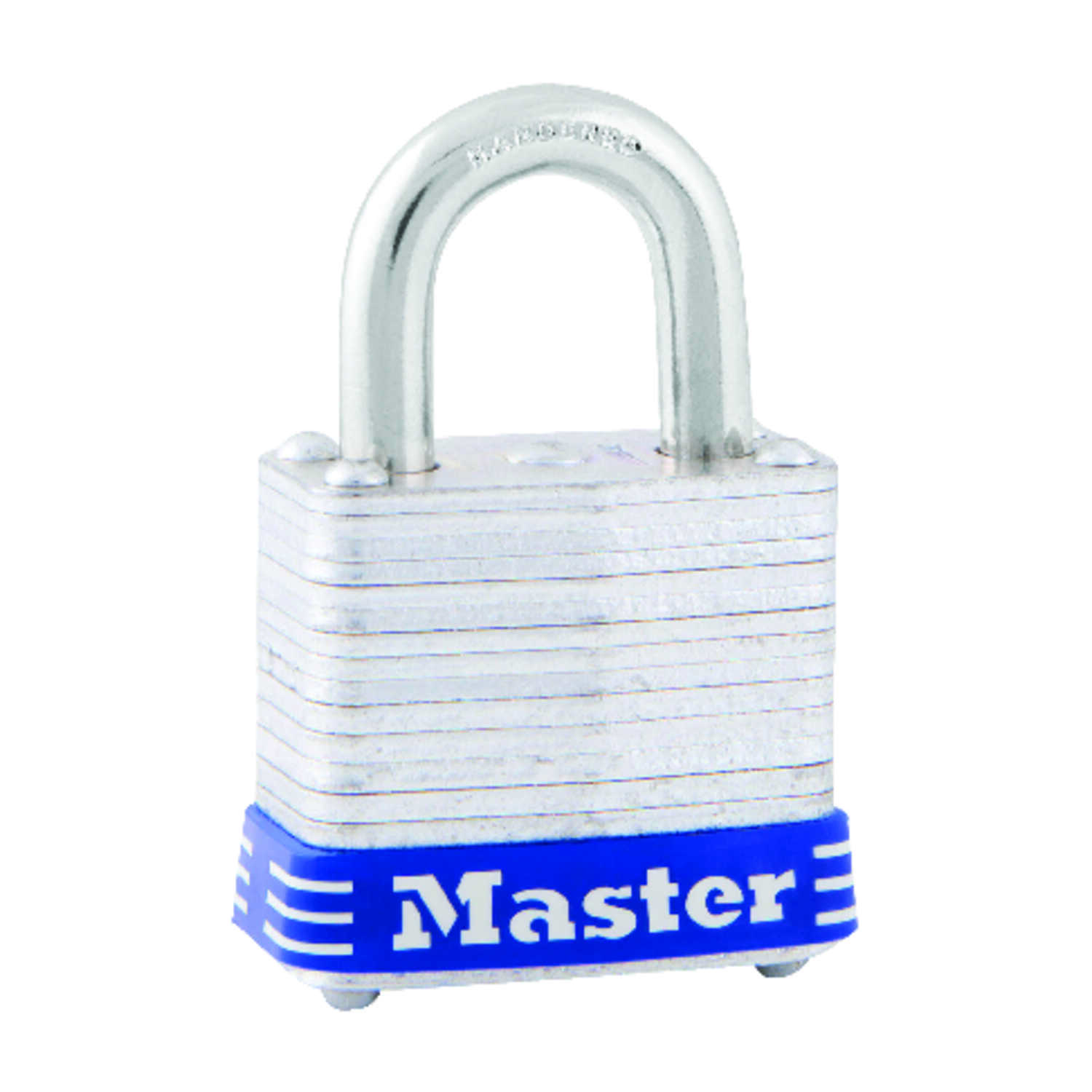 Master Lock  1 in. H x 11/16 in. W x 1-1/8 in. L Laminated Steel  4-Pin Cylinder  Padlock  1 each