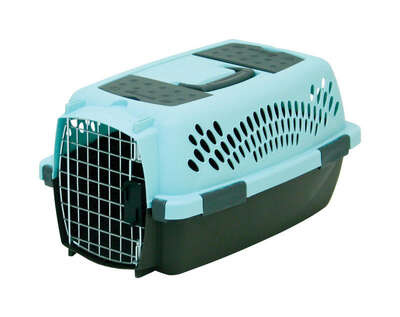 Aspen Pet Plastic Pet Porter Multicolored 10 in. H x 12.6 in. W x 19 in. D