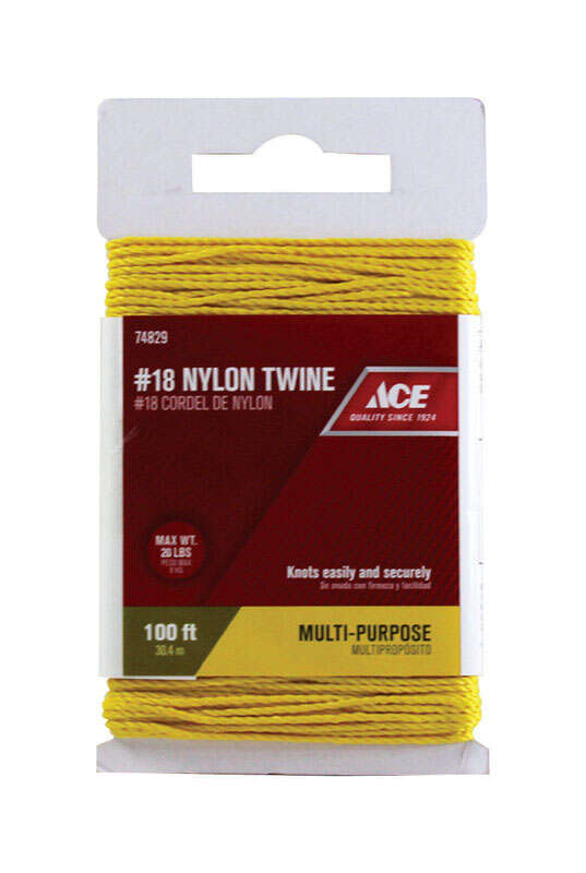 Ace  100 ft. L Gold  Twisted  Nylon  Twine