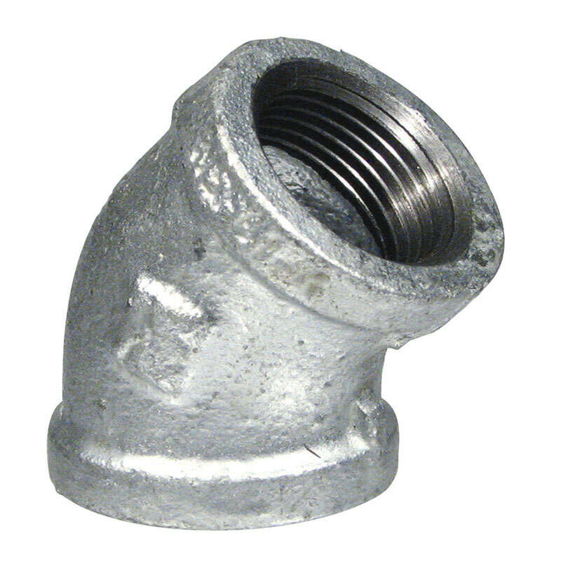 B&K  3/4 in. FPT   x 3/4 in. Dia. FPT  Galvanized  Malleable Iron  45 Degree Elbow
