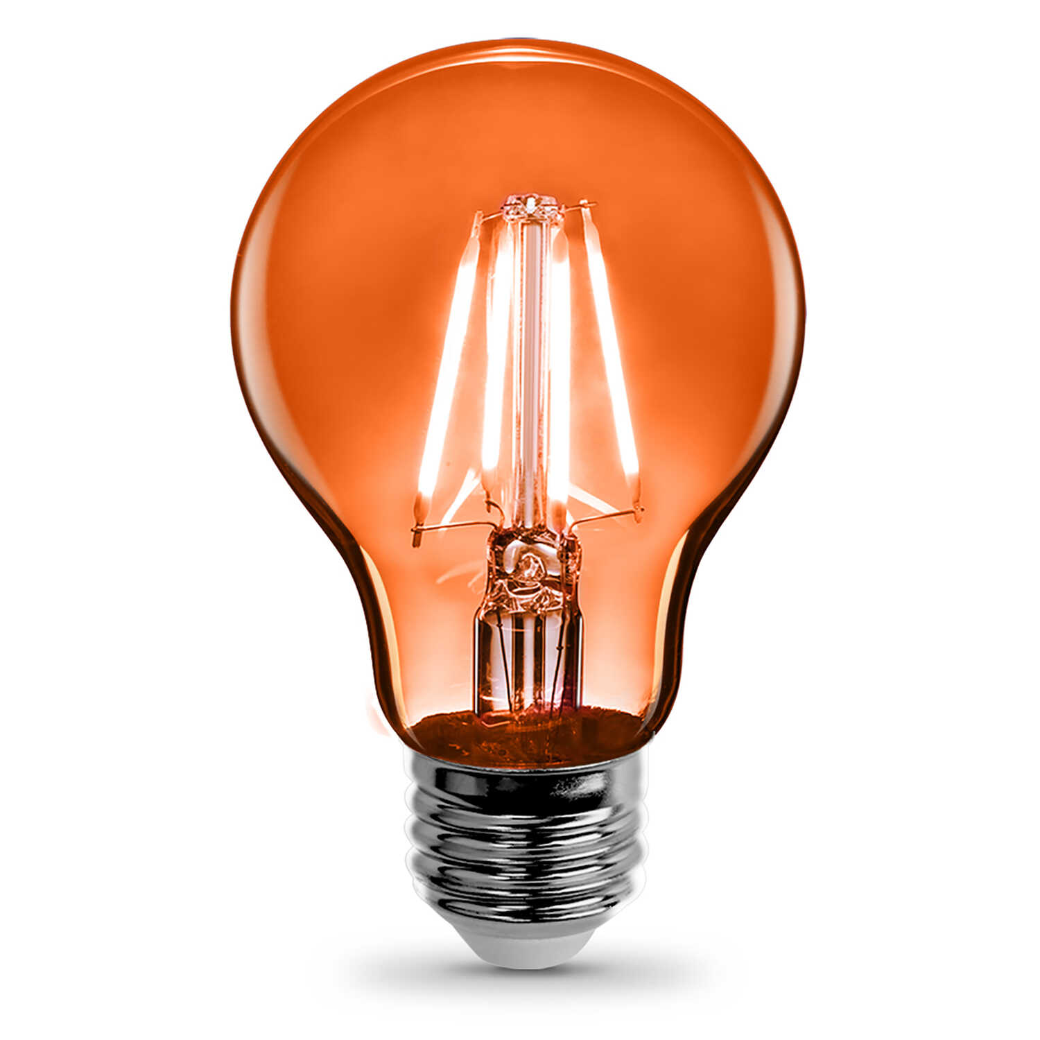 FEIT Electric  Filament  4.5 watts A19  LED Bulb  450 lumens Orange  A-Line  30 Watt Equivalence
