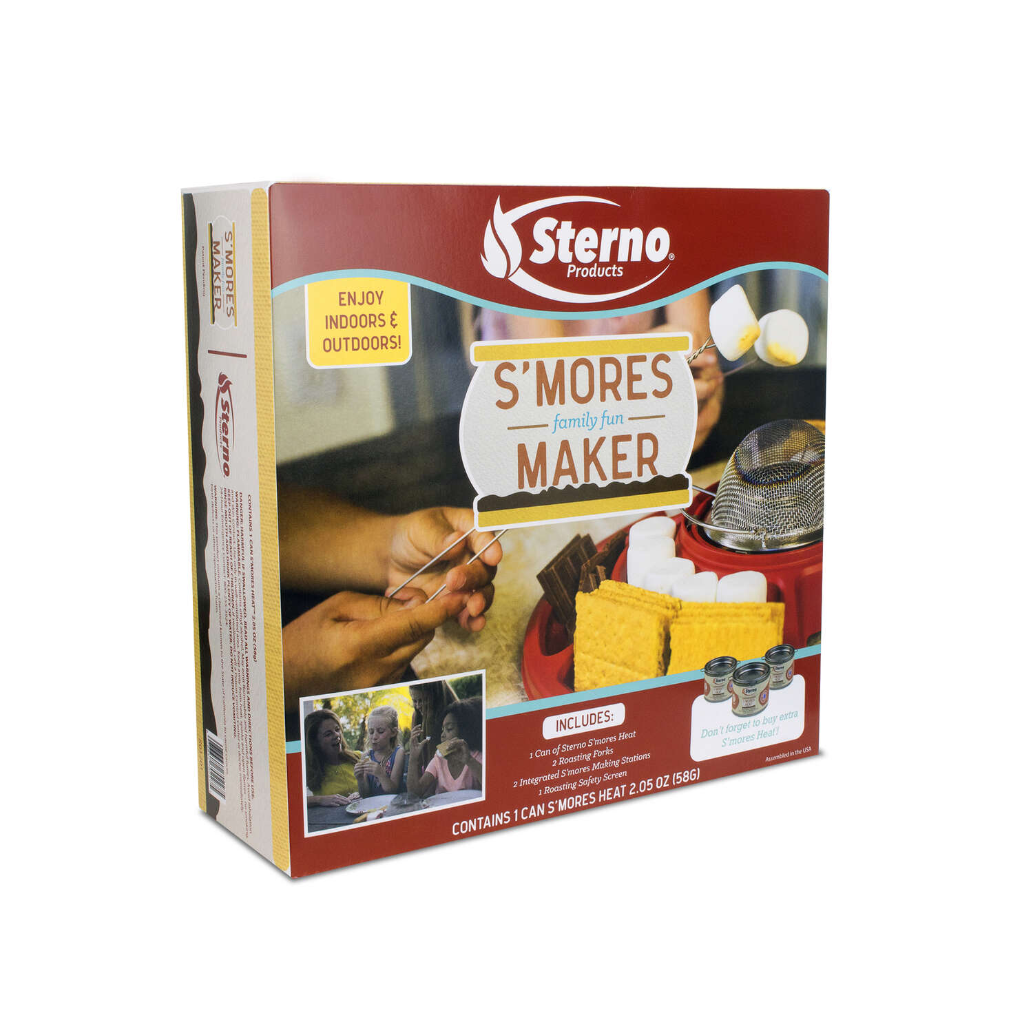 Sterno  S'MORES MAKER  Red  Campfire Kit  14.00 in. H x 14.00 in. W x 3.37 in. L 1 pk