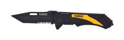 DeWalt  7 in. Folding  Pocket Knife  Black/Yellow  1 pk