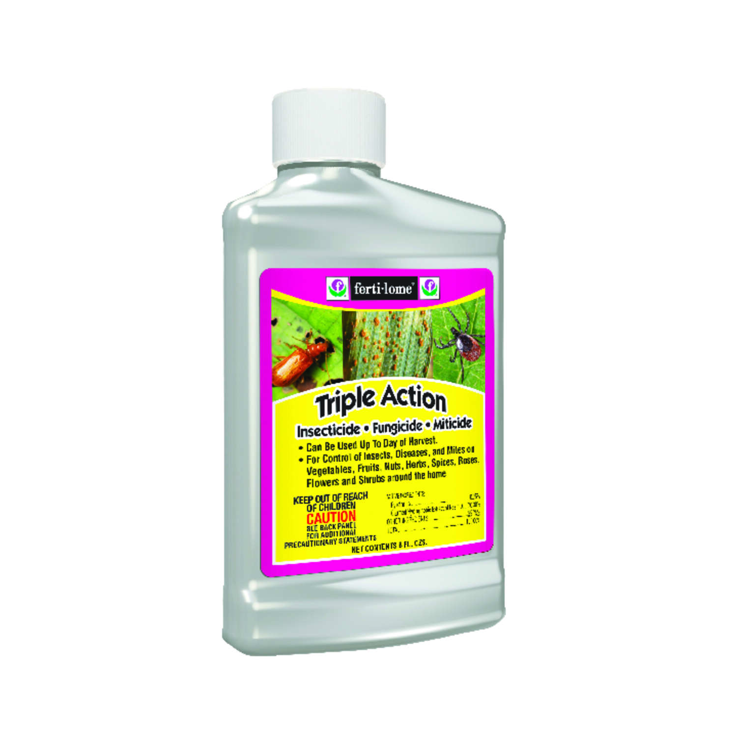 Ferti-Lome  Triple Action  Liquid Concentrate  Insect, Disease & Mite Control  8 oz.