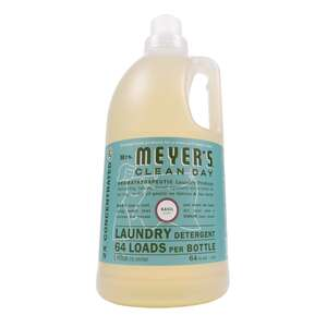 Mrs. Meyer's  Clean Day  Basil Scent Laundry Detergent  Liquid  64 oz.