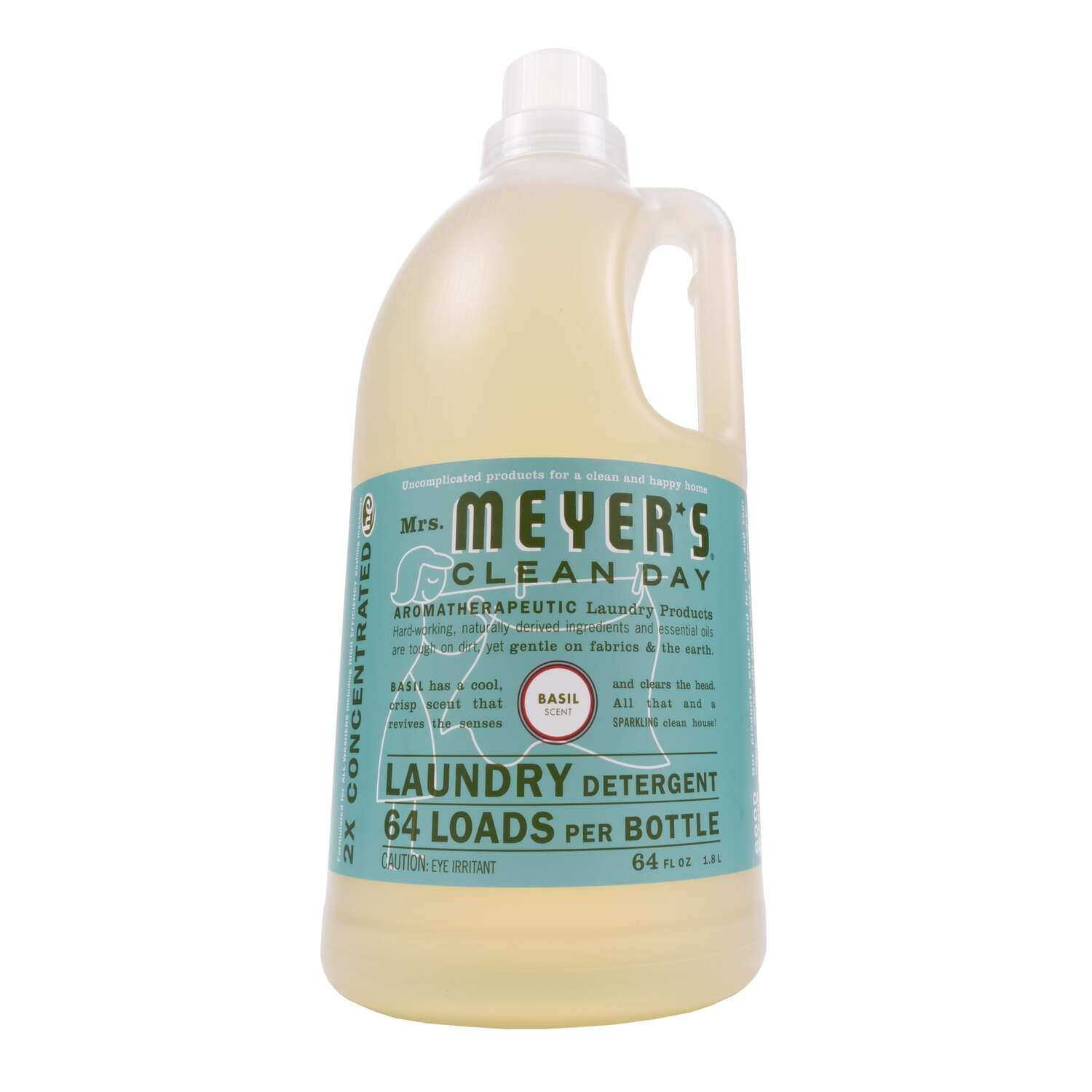 Mrs. Meyer's  Clean Day  Basil Scent Laundry Detergent  Liquid  64