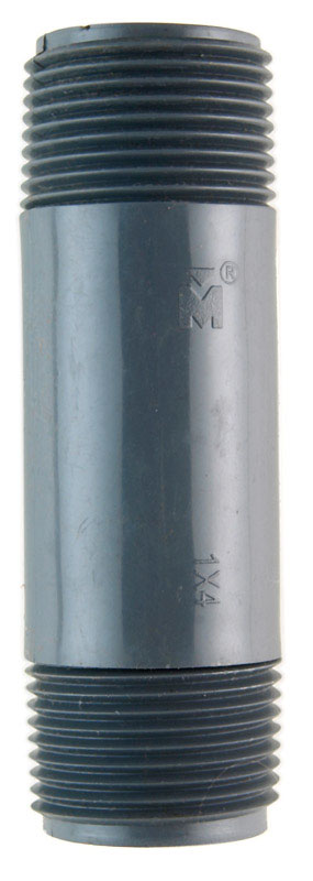 B & K  Schedule 80  1 in. MPT   x 1 in. Dia. MPT  PVC  Pipe Nipple