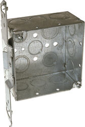 Raco  4-1/8 in. Square  Steel  2 gang Outlet Box  Gray