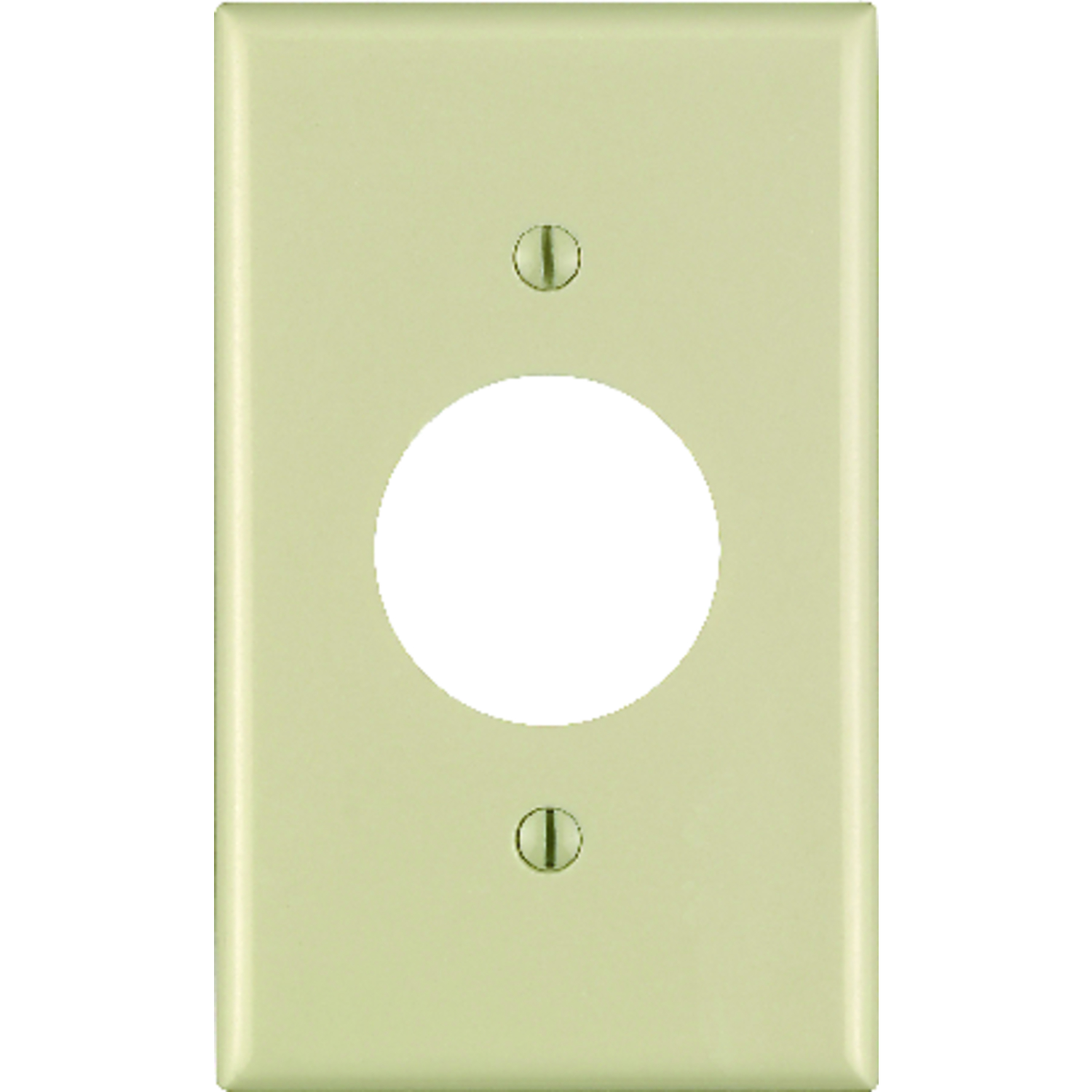 Leviton Ivory 1 gang Plastic Wall Plate 1 pk Outlet - Ace Hardware