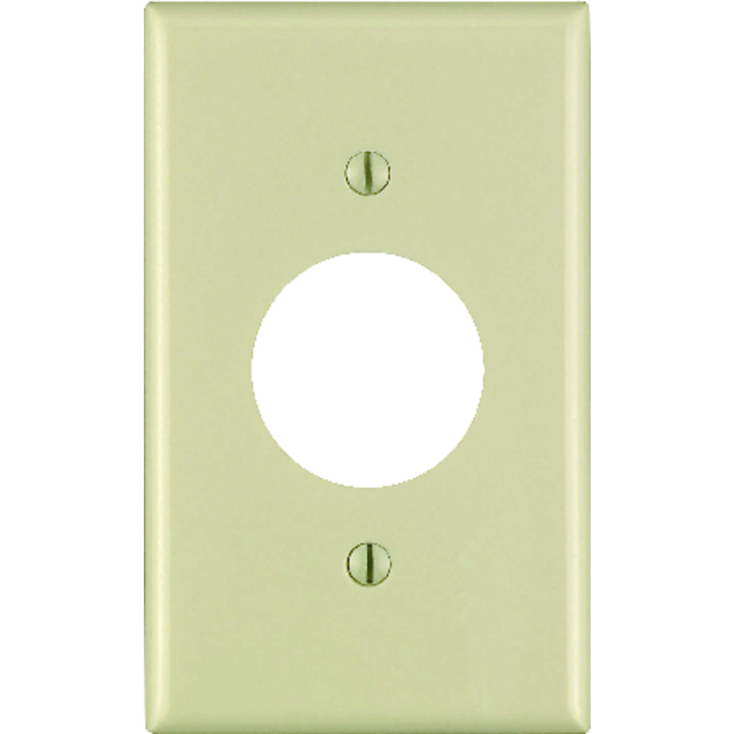 Leviton  Ivory  1 gang Thermoset Plastic  Outlet  Wall Plate  1 pk