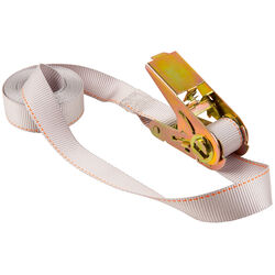 Keeper 1 in. W x 13 ft. L White Tie Down w/Ratchet 400 lb. 1 pk
