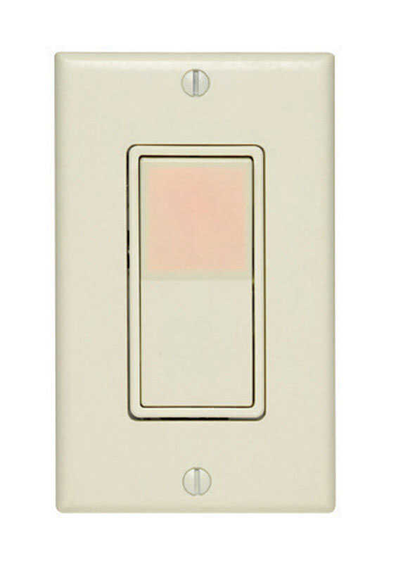 Leviton  Decora Illuminated  15 amps Rocker  Switch  Light Almond  1 pk