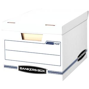Bankers Box  10.5 in. H x 12.5 in. W x 16.25 in. D Stackable Storage Box