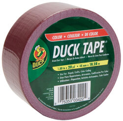 Duck  1.88 in. W x 20 yd. L Maroon  Solid  Duct Tape