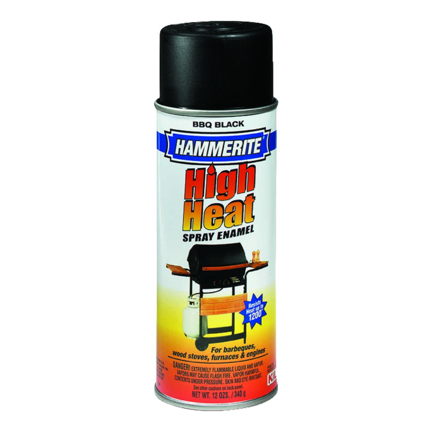 Hammerite  Rust Cap  Flat  Black  High Heat Enamel Spray  12 oz.