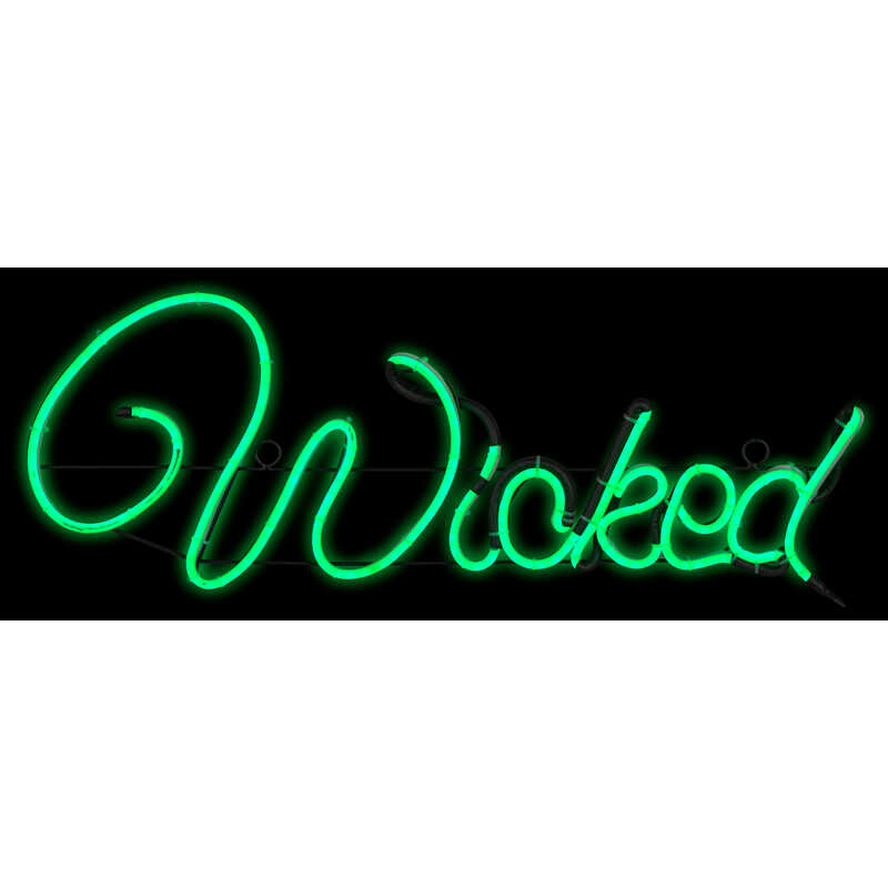 Gemmy  Light Glo Wicked Sign  Lighted Halloween Decoration  10-1/4 in. H x 13-1/2 in. W x 25 in. L 1