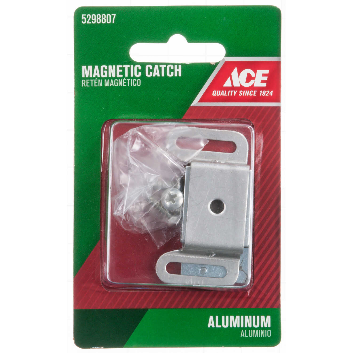 Ace  1.56 in. H x 1.25 in. W Aluminum  Door Catch