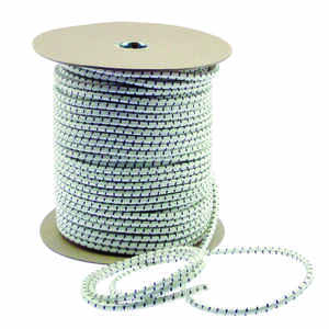 Keeper  White  Bungee Cord Reel  300 ft. L x 5/16 in.  1 pk