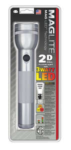 Maglite  168 lumens Gray  LED  Flashlight  D