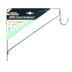 Lido  10-1/2 in. H x 1 in. W x 11 in. L Chrome  Shelf Divider  1 pk