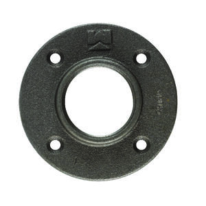 BK Products  3/4 in. FPT   Black  Malleable Iron  Floor Flange
