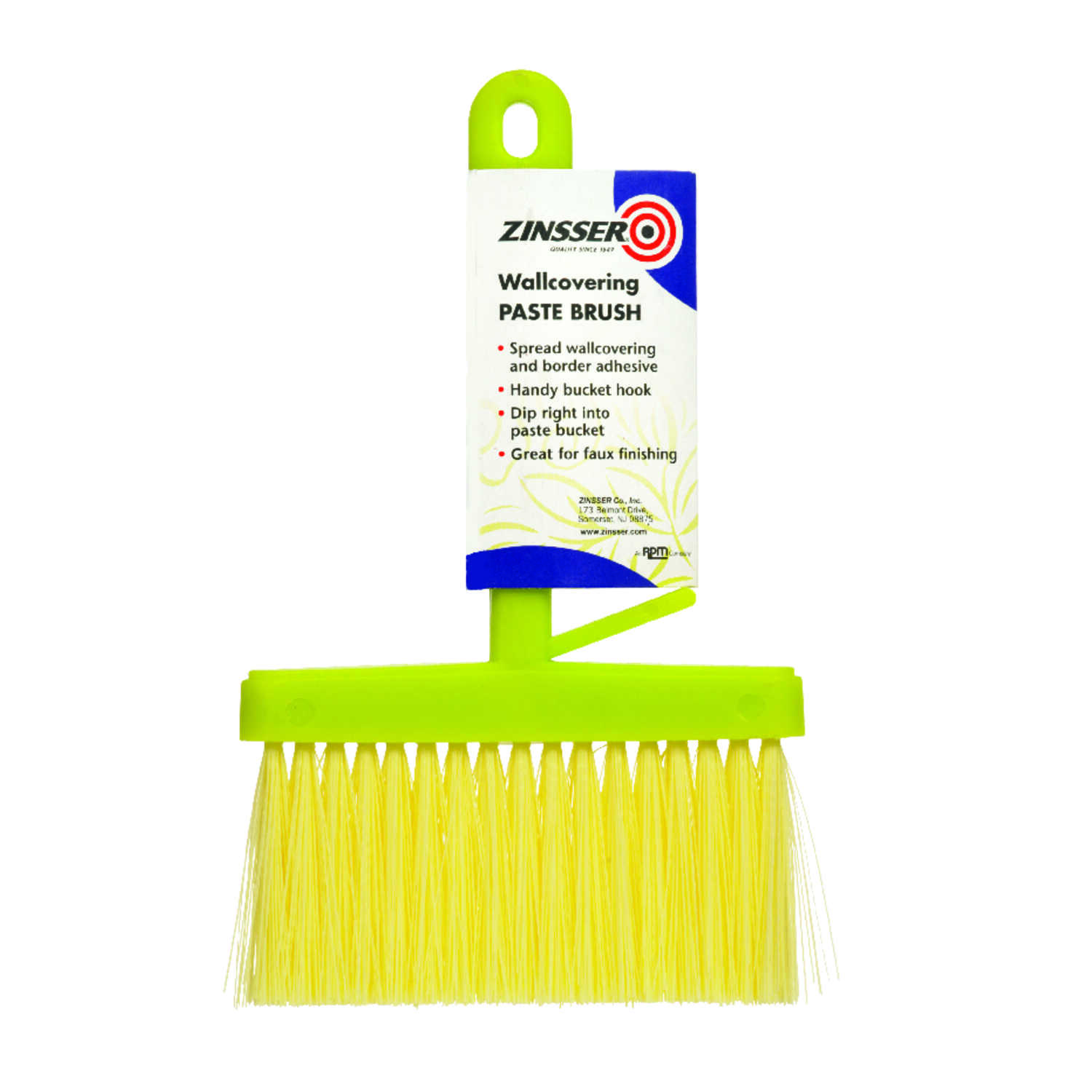 Zinsser  9 in. W Plastic  Plastic  Paste Brush