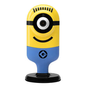 Minion Flexi Cam  Carl Cheerful  Plug-in  Indoor  Yellow  Security Camera