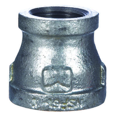 BK Products 1 in. FPT x 1/2 in. Dia. FPT Galvanized Malleable Iron Reducing Coupling