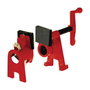 Bessey  BPC  3 in. D Iron  600 lb. 2 pc. Pipe Clamp Fixture Set