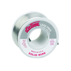 Alpha Fry 8 oz. Lead-Free Solid Wire Solder 0.125 in. Dia. Silver-Bearing Alloy 1 pc.