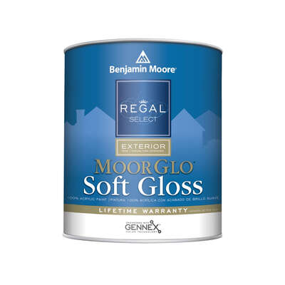 Benjamin Moore  Regal  Soft Gloss  Tintable Base  Base 4  Acrylic  Paint  Outdoor  1 qt.