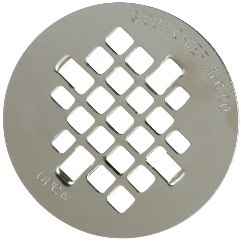 Sioux Chief  4-1/4 in. Chrome  Stainless Steel  Round  Shower Drain Strainer  4-1/4 in.